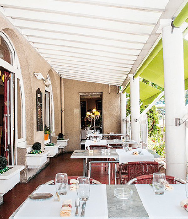 Terrasse du restaurant du Lion d'Argent