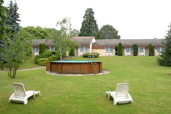Jardin de l'hôtel du Lion d'Argent à La Châtre