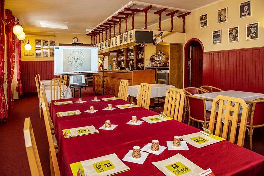 Salle de restaurant du Lion d'Argent